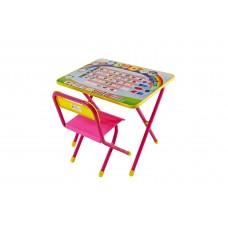 Набор мебели №1 Алфавит розовый