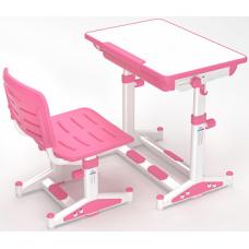 Комплект Парта и стул  Розовый Lk-11