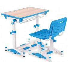 Комплект Парта и стул  Голубой Lk-09