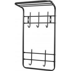 Вешалка с полкой настенная металлическая (арт. ВПТ5)