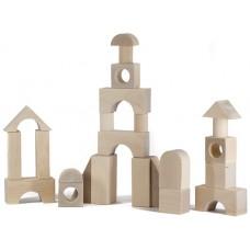 Конструктор деревянный «Городок» большой 40 неокрашенных деталей (арт. К2400)