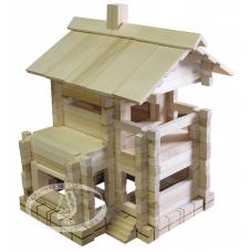 Конструктор деревянный Дачный домик (арт. С43)