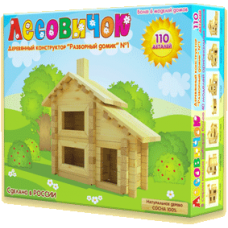 Деревянный конструктор «Разборный домик» №1 (арт. les001)