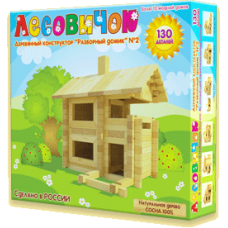 Деревянный конструктор «Разборный домик» №2 (арт. les002)