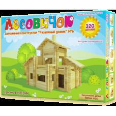 Деревянный конструктор «Разборный домик» №6 (арт. les006)