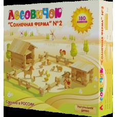 Деревянный конструктор «Солнечная ферма» №2 (арт. les013)