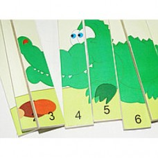 Счетный материал Веселый крокодил