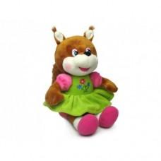 Мягкая игрушка Белка-девочка музыкальная 8650