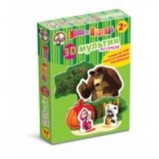 3D мультик на столе Краски Маша и медведь 01437 ДК