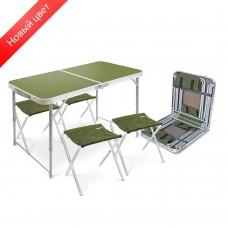Складной стол влагостойкий + 4 стула (арт. ССТ-К2)